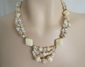 Shell & Bone Necklace