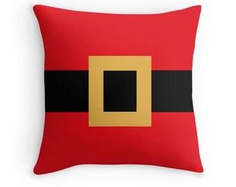 Santa Pillow, Santa Throw Pillow, Santa Claus Pillow Cover, Holiday Pillow, Christmas Pillow, Winter Pillow, Winter Decor, Santa Pillow Case