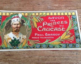 Vintage French Advertising - Soap label
