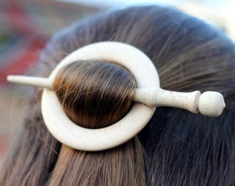 Maple Wooden Shawl Pin or Hair Stick
