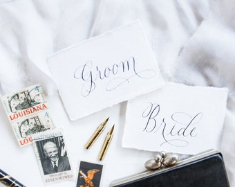 "Modern Calligraphy Styling Kits for Photographers Event Planners & Event Designers – 24 ""Name Cards"" – Handmade Paper Wedding Photography"