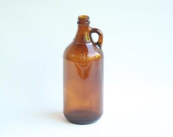 Vintage Brown Glass Bottle