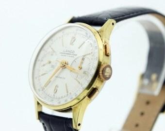 Mens Vintage Lanco Chronograph Watch (SKU 603)