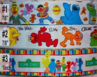 Sesame Street  -   inspired Grosgrain Ribbon R317