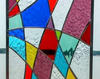 Stained Glass Multicolored Panel