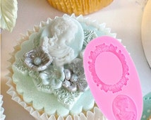 Mirror Fondant Cake Decorating Tools Frame Cupcake Wedding Decoration Silicone Mold