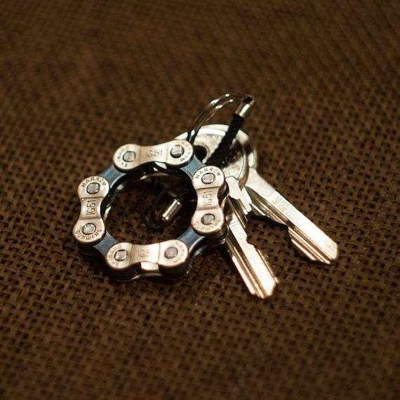 Cyclist Gift, Bike Keychain, Bike Chain Keyfob, Bike Accessory,  Metal Keyring, Metal Keychain, Cyclist Keychain, Bicycle Chain Keychain