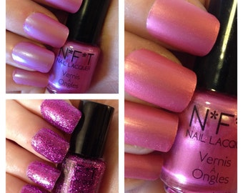 Pretty in Pink Nail Polish Set / Indie Lacquer Set, Gift For Mom, Gift For Her, Gift Under 20