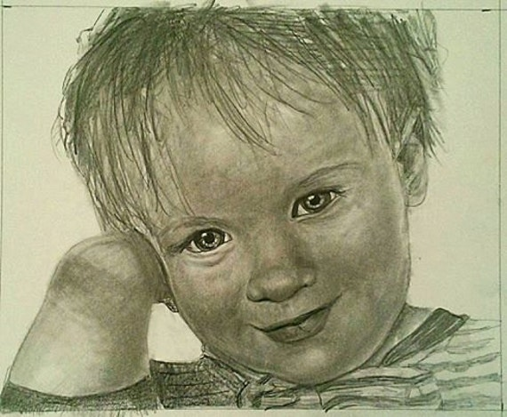 Custom pencil drawing from your photo. 25% Sale! Your memories come to life again in Nica's exquisitely detailed portraits.