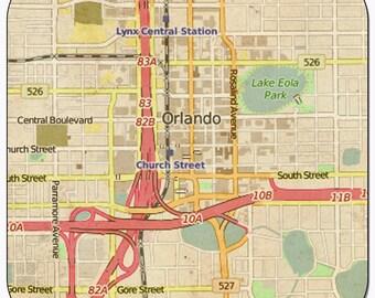 Orlando Vintage Map Coasters