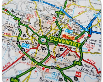 Coventry Map Coasters