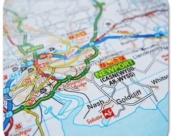 Newport Map Coasters