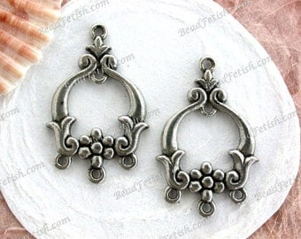 Lead Free Pewter, Large Vintage Style Findings, Made in America USA Copyright © Protected Pewter Beads, KF Signature Series ~ K388 AP
