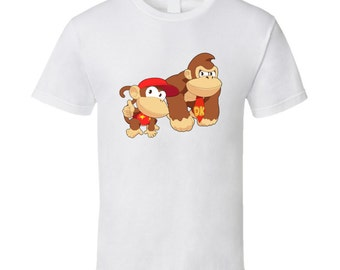 Donkey Kong and Diddy Kong - White T-Shirt