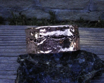 Fabricated Heavy Copper Cuff Bracelet. 2.3mmX30mm Thick and Wide/