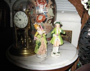 Lady and Gentleman Figurines/Occupied Japan/Antique