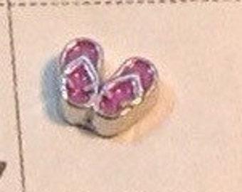 Pink Flip flops Floating charm