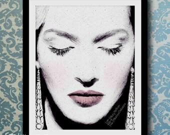 Kate Winslet Beauty Digital Painting Print