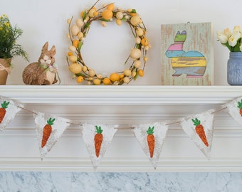 Easter Banner, Easter Decor, Easter Bunny Banner,  Easter Photo Prop, Carrot, Easter, Carrot Banner, Bunny Banner, B289