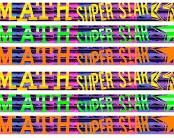 D2500 Math Super Star - 36 Mathematics Pencils, Soft Effective Eraser, Non Toxic, Latex Free, Made In the USA,   Express PencilsTM