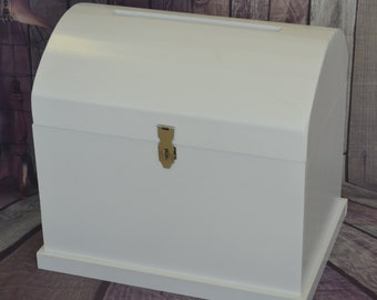 Large White or Timber Stained Treasure Chest Wishing Well - Price includes Shipping