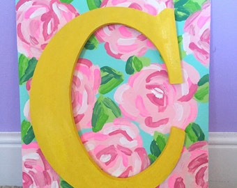 Custom Lilly Pulitzer Print Canvas