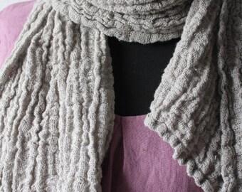 Linen scarf, linen scarves, softened linen, gift for her, crumpled linen