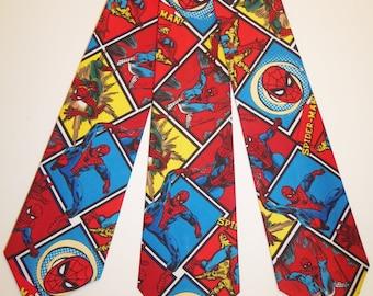 Spider-Man Blocked Printed Marvel Inspired Neckties