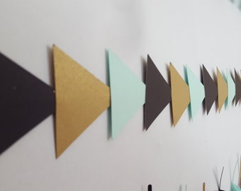 Tribal Triangle Arrow Wild One Birthday Garland