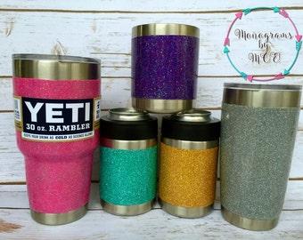 Yeti / Glitter Dipped Yeti / Glittered Yeti / Customized Yeti / Glitter Yeti Rambler / Ombré Yeti