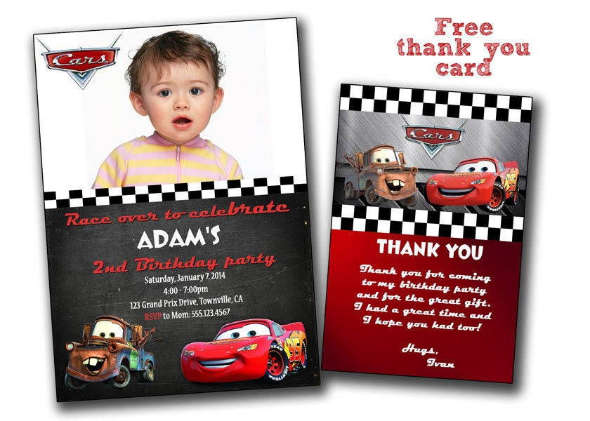 Disney Cars Invitation Cars Birthday Invitation Disney – Disney Cars Birthday Invites