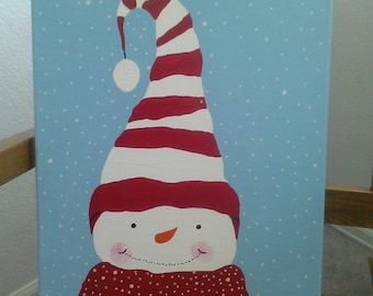 Snowman Canvas Painting