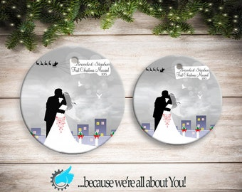Personalized Ornament First Christmas Married, Customized Christmas Ornament, Stocking Suffers, Great Gift!