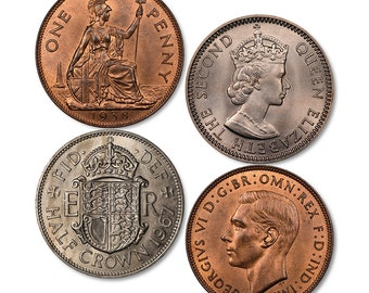 Old Coin Coasters (set of 4)