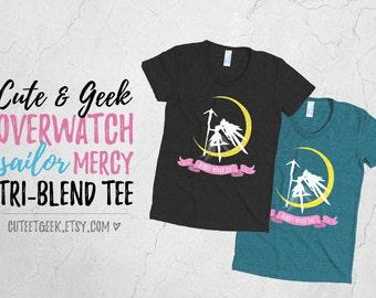Overwatch Sailor Mercy Heroes Never Die T-shirt