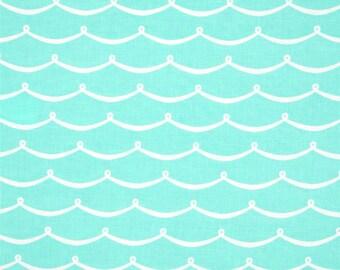 Crib Sheet or Changing Pad | Neutral Baby Bedding | Aqua Crib Sheet | Mermaid Nursery | Ocean | Aqua Wave | Standard or Mini Crib Sheet