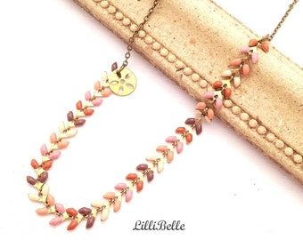 Necklace chain cobs brass - ethnic jewelry - vintage - Bohemian jewelry - jewelry jewelry hippie