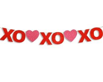 XOXOXO Garland, Happy Valentines Day Banner, Valentines Day Banner, Valentines  Day Decoration