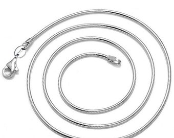 Silver Plated Snake Chains 16,22,24 Inches