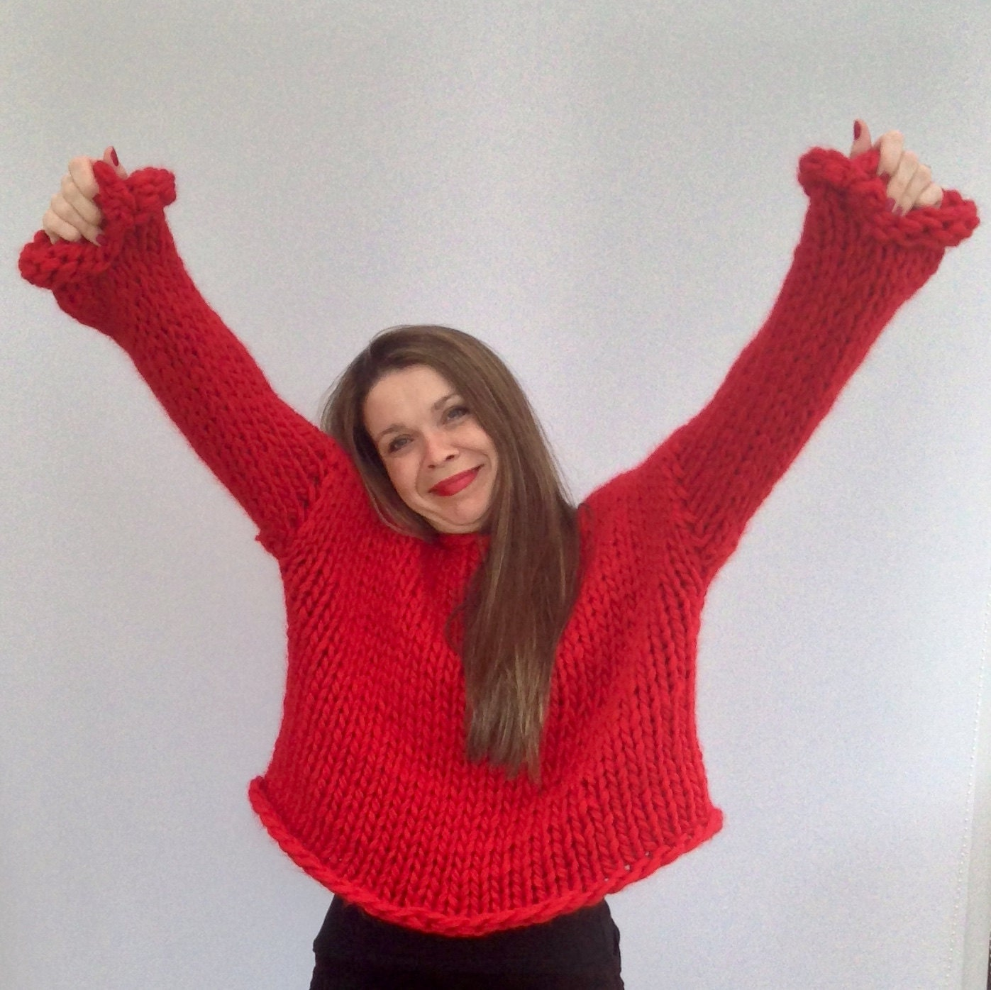 Oversized Jumper Knitting Pattern : Sweater KNITTING KIT. Oversized Jumper / by WoolCoutureCompany