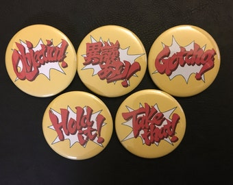 Ace Attorney Objection Pinback Buttons