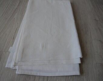 French vintage metis linen tea towel / torchon  (00709)