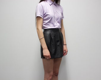 St. Marie Vintage Leather Skirt