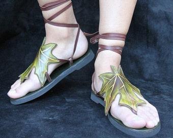 Celtic Leaf Sandals