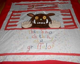 Upcycled Gruffalo Fleece Quilt