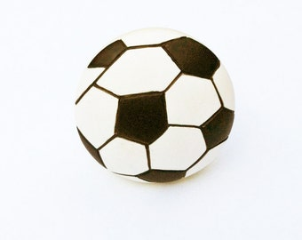 Soccer Ball Knobs for Drawers, Cabinets, Closets