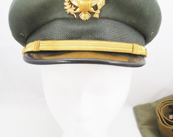 Military Officer's Army Hat, with Badge 6 7/8, Luxenberg New York, US Military