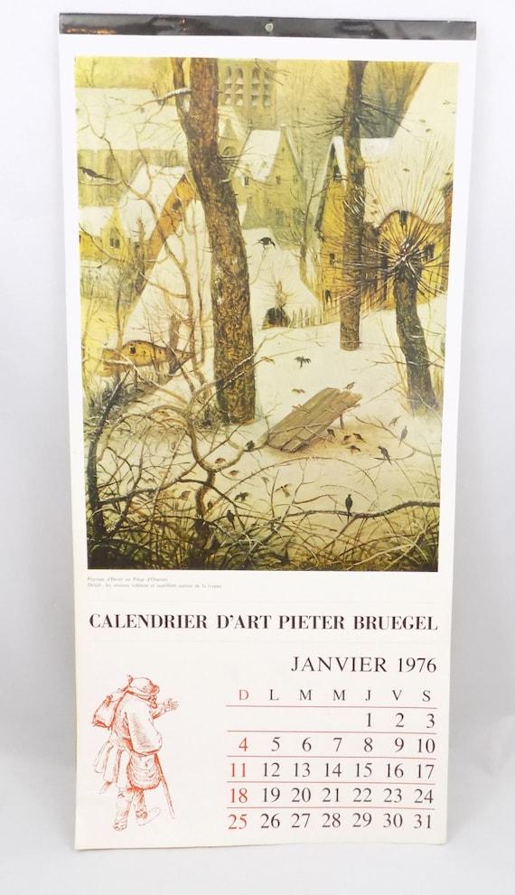 Vintage Calendar Art : French calendar vintage from france with art