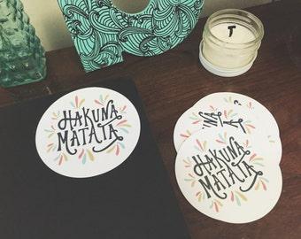 """Hakuna Matata Round Sticker (4 """")"""