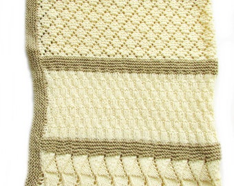 Knitted Baby Comforter Pattern : Baby Blanket knitting Pattern Dimple by BiggerthanlifeKnits